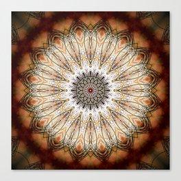 Autumn Heart Mandala Design Canvas Print