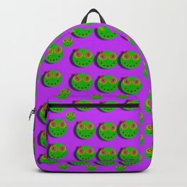 The happy eyes of freedom in polka dot cartoon pop art Backpack