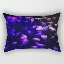 Jellyfish - purple and pink Rectangular Pillow