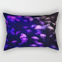 Jellyfish - purple and pink Rectangular Pillow