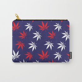 Marijuana leaves print - USA Carry-All Pouch