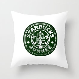 Starbucks Junkee Throw Pillow