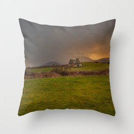 West Cork Caha Mountains Ireland Throw Pillow