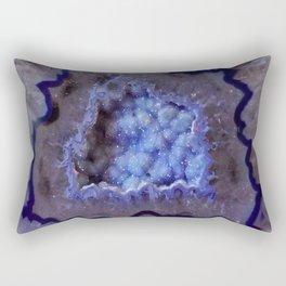 Quartz Inside Geode rustic decor Rectangular Pillow