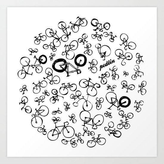 Bicycle World Art Print