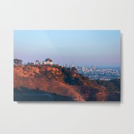 Los Angeles Griffith Park Observatory with City in Background Metal Print