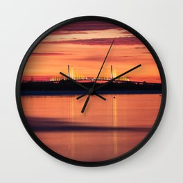 Predawn Skyway Wall Clock
