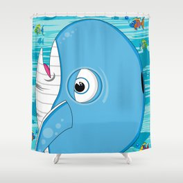 Cute Jonah and the Whale Shower Curtain