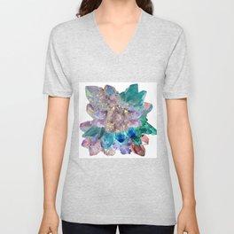 Aura Crystal Bouquet Mandala Unisex V-Neck