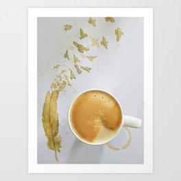 Lè Cafè Art Print