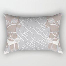 White Hot  Rectangular Pillow
