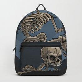 Cartoon death skeleton, Halloween scary illustration, Halloween party artwork Backpack