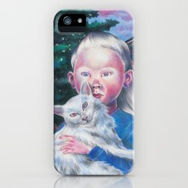 Albino cat iPhone Case