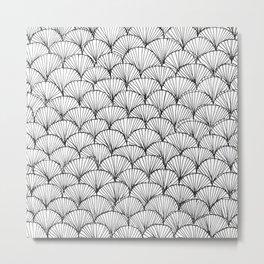 Hand Drawn Doodle Pattern Metal Print