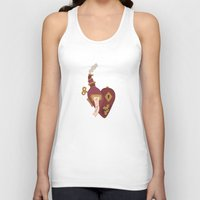 valentines Tank Tops featuring Steampunk Valentines by S. Vaeth