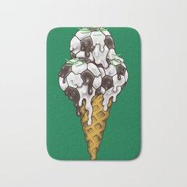 Ice Cream Soccer Balls Bath Mat