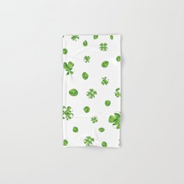 Watercolor  Lucky Charm Pattern Hand & Bath Towel