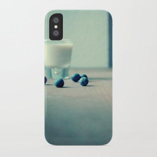 Blue Berry Milk iPhone Case
