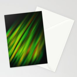 Colorful neon green brush strokes on dark gray Stationery Cards