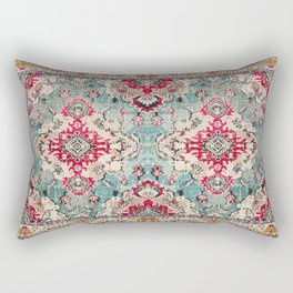 N132 - Heritage Oriental Traditional Vintage Moroccan Style Design Rectangular Pillow