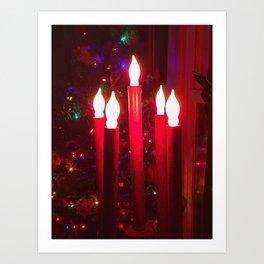 Christmas Tree With Candelabra Art Print