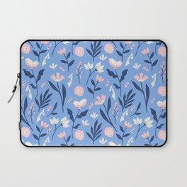 Floral Blue Pattern Laptop Sleeve