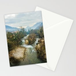Mountain river Sella Stationery Cards