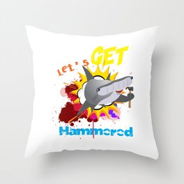 The great hammerhead shark Tee makes a great gift for shark lover Awesome Tee and Lets get hammered! Throw Pillow