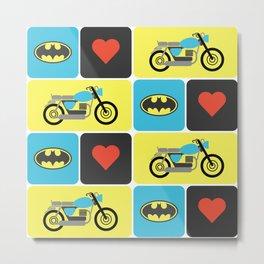 The Bike & The Bat Metal Print