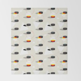 Pucks & Geometries #society6 #hockey #sport Throw Blanket