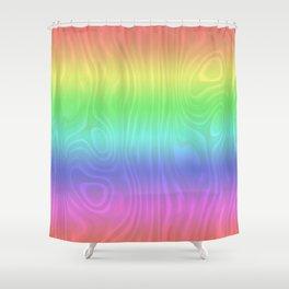 Groovy Pastel Rainbow Shower Curtain