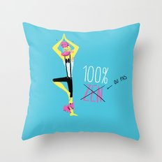 100% Zen Throw Pillow
