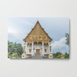 Wat at Pha That Luang, Vientiane, Laos Metal Print