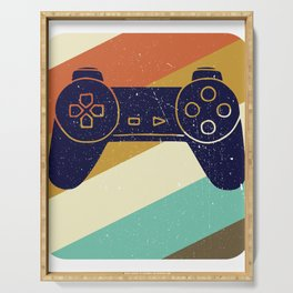 Retro Vintage Design With Controller Video Game Lover's Gift Serving Tray