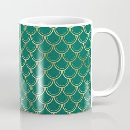 emerald mermaid pattern Coffee Mug