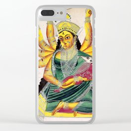 Ganesha-Janani (Mother of Ganesh) - Vintage Indian Art Print Clear iPhone Case