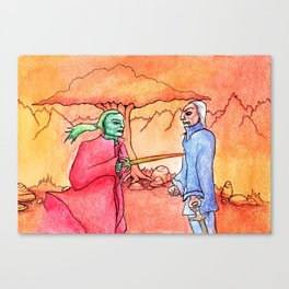 fiery duel Canvas Print