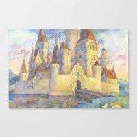 castle Canvas Prints featuring Castle by Kasheva