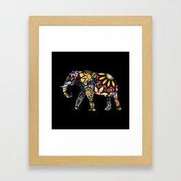 Aztec Elephant Framed Art Print