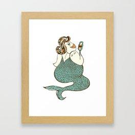 sel-fish mermaid Framed Art Print