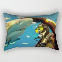 Shark Bite Diving Rectangular Pillow