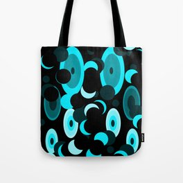 black and blue planets and moons Tote Bag