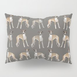 Whippet Love Pattern Pillow Sham