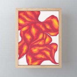 Fiery Form Framed Mini Art Print