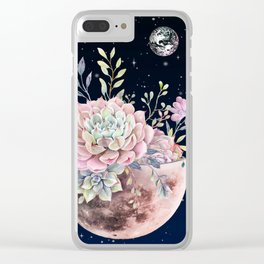succulent night light Clear iPhone Case