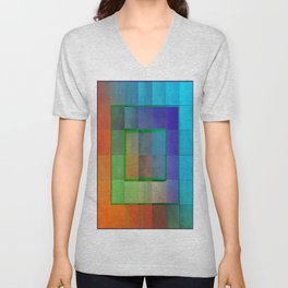Aperture #2 Fractal Pleat Texture Colorful Design Unisex V-Neck