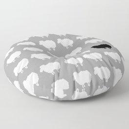 Black sheep Floor Pillow