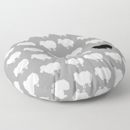 Black sheep Floor Pillow
