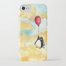 Penguin and a Red Balloon iPhone Case