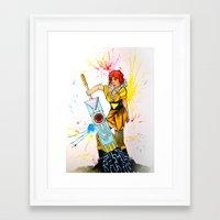 transistor Framed Art Prints featuring Red Transistor by Salzburn Designs Shop